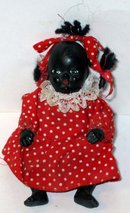 old vintage BLACK AMERICAN bisque doll