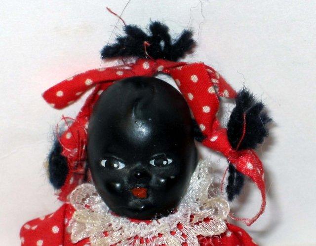 old vintage BLACK AMERICAN bisque doll