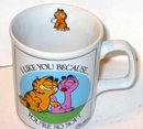 old vintage GARFIELD CAT COFFEE MUG CUP