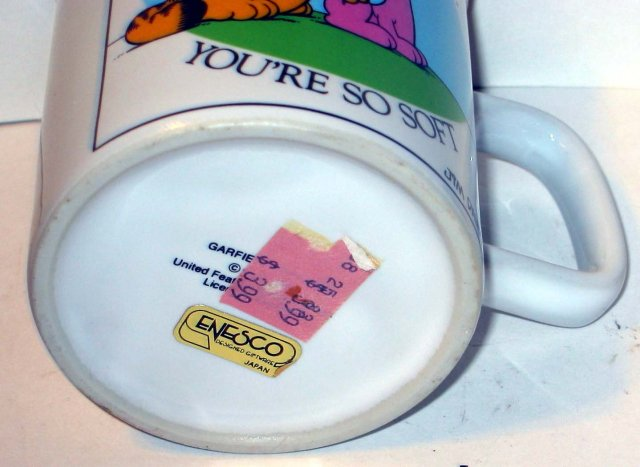 old vintage GARFIELD CAT COFFEE MUG CUP