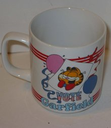 old vintage comical CAT COFFEE MUG CUP