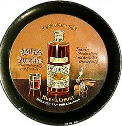 Bailey's Whiskey tin tip tray