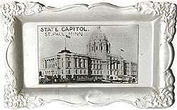 old vintage ST. PAUL MINN Aluminum tip tray
