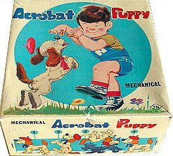 Acrobat Wind-Up Puppy Dog Toy in Original Box