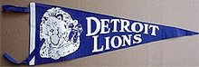 old vintage DETROIT LIONS FELT football pennant