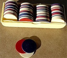 Celluloid Poker Chips in Box
