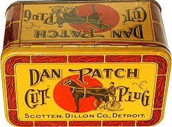 old vintage 1910 DAN PATCH TOBACCO tin