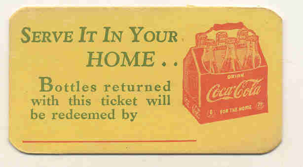 Coca-Cola Soda Redemption Coupons