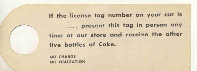 old vintage 1950 COCA COLA detective sign