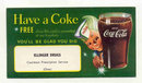 old vintage 1950 SPRITE BOY COCA COLA SODA card