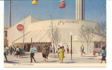 old vintage 1968 COCA COLA WORLDS FAIR postcard