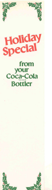 old COCA COLA soda HOLIDAY BERRY BOOKMARK
