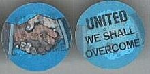 old UNITED WE SHALL OVERCOME flicker DISC