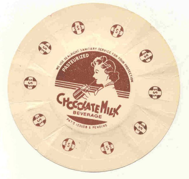 old vintage CHOCOLATE MILK BEVERAGE CAP