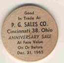 old vintage 1965 P&G WOODEN Nickel token
