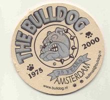 vintage BULLDOG  AMSTERDAM BEER coaster