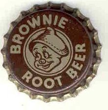 old vintage BROWNIE ROOT BEER soda bottle cap ~