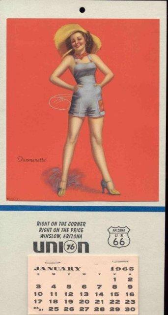 UNION GAS PINUP CALENDAR 1965