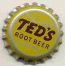 old vintage TEDS ROOT BEER soda bottle cap