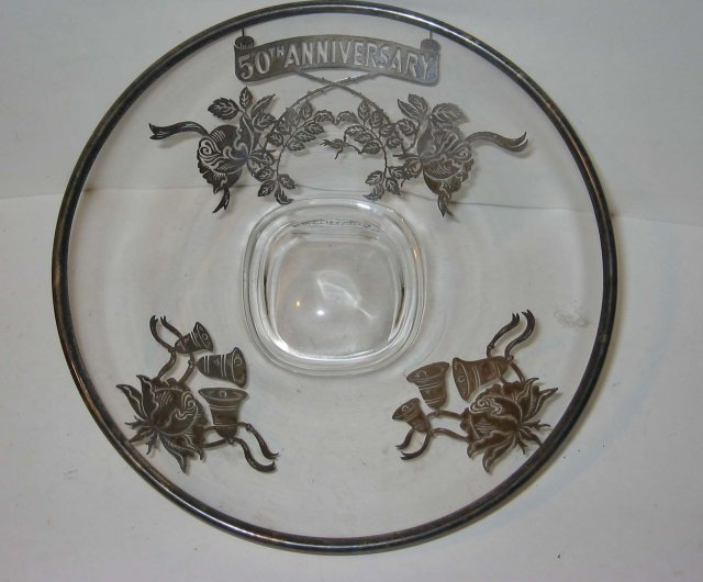 Anniversary Glass Bowl 50th