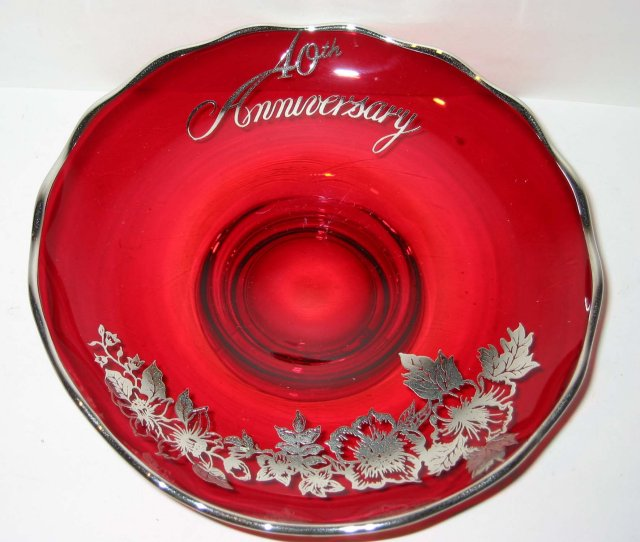 Anniversary Glass Bowl