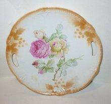 old vintage FLORAL GERAMN ROSE plate