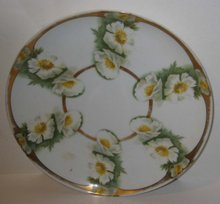 old vintage ROSENTHALE FLORAL DAISY PLATE
