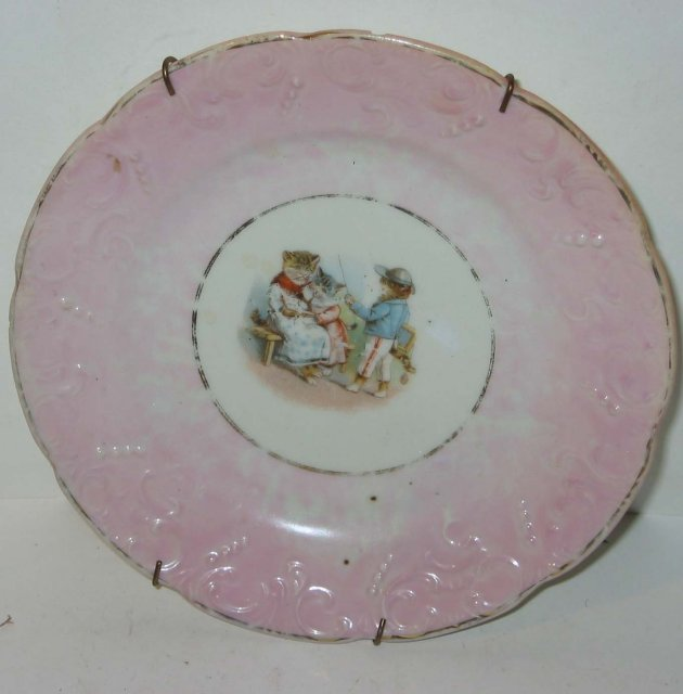 old vintage Ceramic Cat Plate