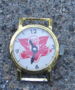 old vintage 1950s BOZO THE CLOWN watch face