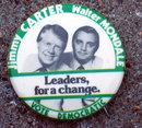 Carter Mondale Political Pin