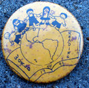 old vintage WORLD READING BUTTON 1993 pin