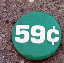 old vintage 1940s 59 CENT store pinback button