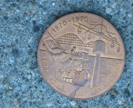 old vintage CEDAR POINT 1970 ANNIVERSARY coin
