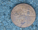 old vintage CEDAR POINT 1970 ANNIVERSARY coin