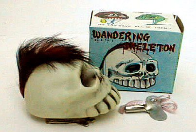 WIND-UP Skull Toy - Vintage Walking Toys