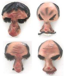 4 old vintage UGLY HALLOWEEN masks PAPIER MACHE