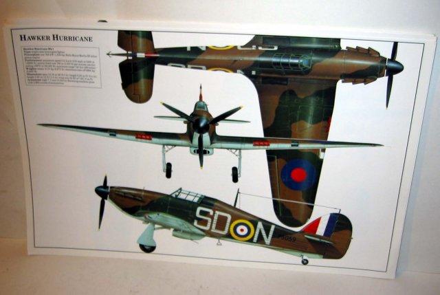 old vintage HAWKER HURRICANE plane poster