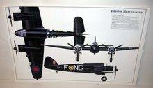 old vintage BRISTOL BEAUFIGHTER plane poster