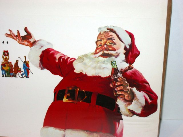Santa Claus Coca-Cola Soda Sign poster