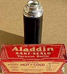 Alladin Vacuum Thermos Bottle in Original Box
