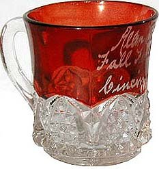 Cincinnati Ruby Flash Glass