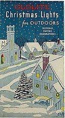 vintage 1940s GLOLITE CHRISTMAS LIGHTS in BOX