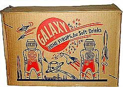 OLD VINTAGE SPACEMAN Galaxy Syrup bottles