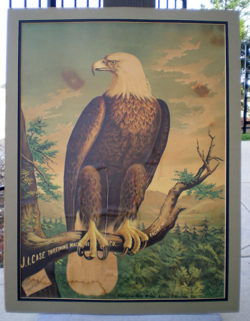 Case Threshing Eagle Poster