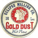 ECLIPSE MILLING GOLD DUST POSTER ~ ANTIQUE SIGN