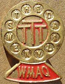 CHICAGO WMAQ Microphone Radio PIN