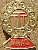 CHICAGO WMAQ Microphone Radio PIN
