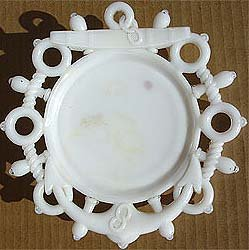 old vintage 1900 NAUTICAL MILK GLASS plate