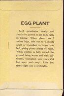 old vintage 1920s NY EGGPLANT SEED PACKET ~ PASADENA CA