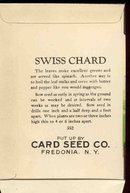 old vintage 1930s SWISS CHARD SEED PACKET ~ FREDONIA NY